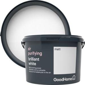 Image of GoodHome Air purifying Brilliant white Matt Emulsion paint 2.5L