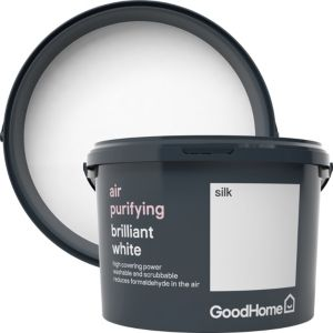 Image of GoodHome Air purifying Brilliant white Silk Emulsion paint 2.5L
