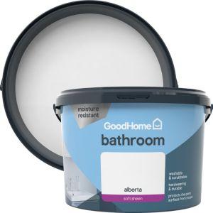 Image of GoodHome Bathroom Alberta Soft sheen Emulsion paint 2.5L