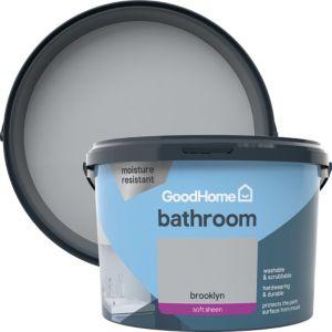 Image of GoodHome Bathroom Brooklyn Soft sheen Emulsion paint 2.5L