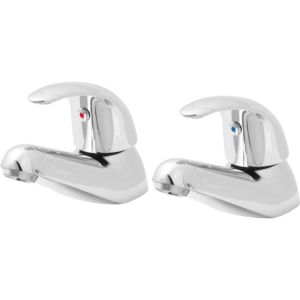 Image of Cooke & Lewis Blyth Chrome plated Bath pillar tap Pack of 2
