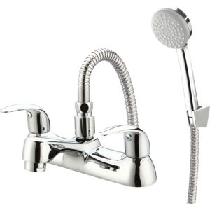 Image of Cooke & Lewis Blyth Chrome plated Bath shower mixer tap