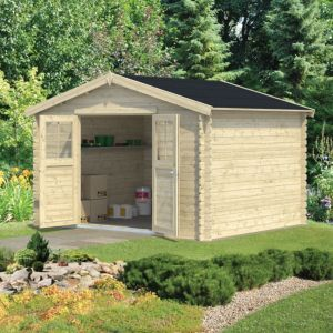 Image of 11x9 BELAÏA Apex roof Tongue & groove Wooden Shed