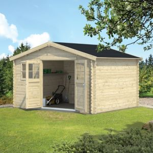 Image of 12x10 BELAÏA Apex roof Tongue & groove Wooden Shed