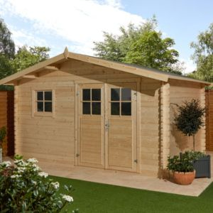 Image of 12x10 TAMAN Apex roof Tongue & groove Wooden Shed
