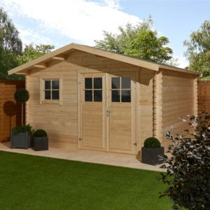 Image of 12x12 TAMAN Apex roof Tongue & groove Wooden Shed