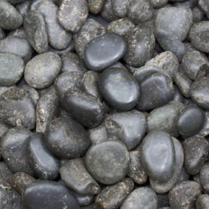 Image of Polished Black Chinese Pebbles 5kg