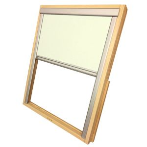 Image of Beige Blackout Roof window blind (W)78cm (L)140cm