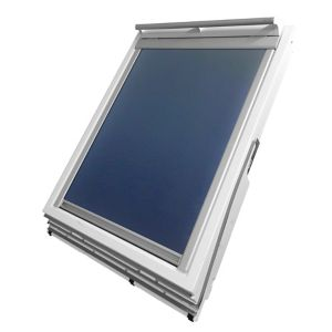 Image of Blue Blackout Roof window blind (W)114cm (L)118cm
