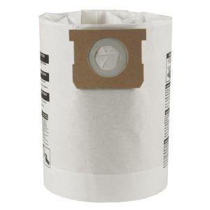 Mac Allister White Vacuum filter bag 40L  Pack of 5