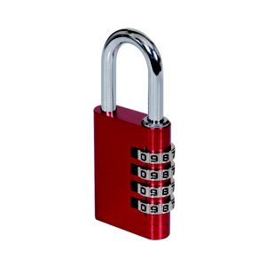 Image of Smith & Locke Aluminium Combination Steel open shackle Padlock (W)40mm