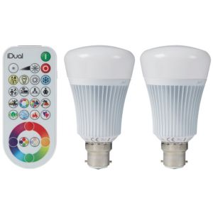 Image of iDual B22 806lm LED Dimmable GLS Light bulb Pack of 2