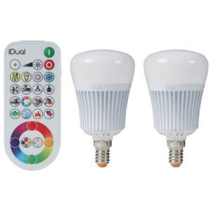 Image of iDual E14 470lm LED Dimmable Candle Light bulb Pack of 2
