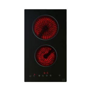 Cooke & Lewis CLCER30 2 Burner Black Glass Ceramic Hob