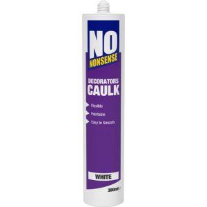 Image of No Nonsense 380ml White Decorators Caulk