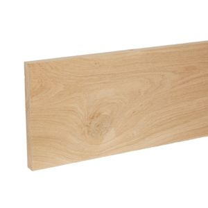 Image of Smooth Planed Square edge Oak Stripwood (L)2.4m (W)180mm (T)20mm