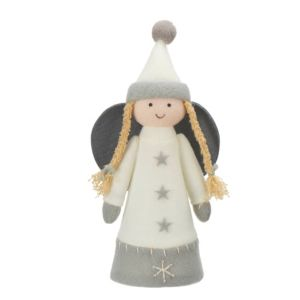 Grey & White Angel Tree Topper
