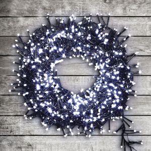 1000 Ice White LED Cluster String Lights