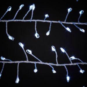 400 Ice White LED Cluster String Lights