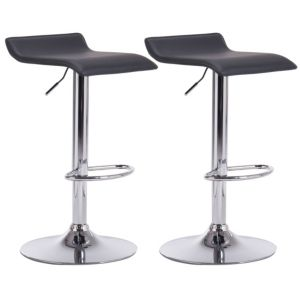 Image of Daphne Black & Chrome effect Bar stool (H)850mm (W)450mm Pack of 2