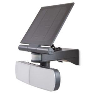 Image of Blooma Brampton Matt Charcoal Solar powered External Twin head flood light