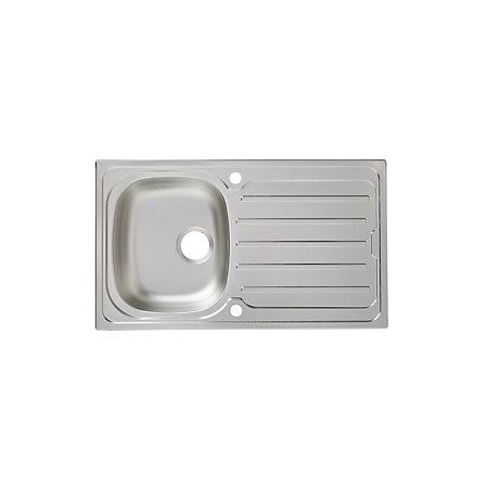 Franke Linen Finish Sinks : ... & Lewis Nakaya 1 Bowl Linen Finish Stainless Steel Sink & Drainer