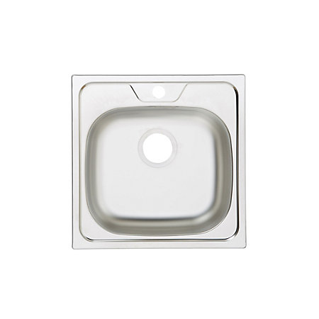 Square Sink Bowl : Gamow 1 Bowl Stainless Steel Square Sink Departments DIY at B&Q