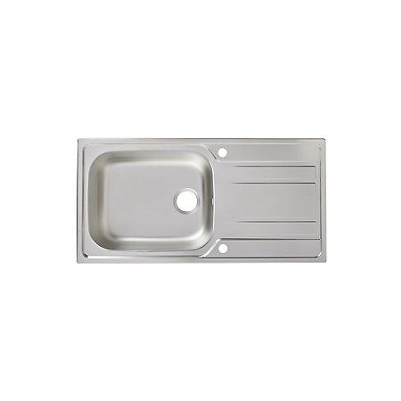 Franke Linen Finish Sinks : Cooke & Lewis Lyell 1 Bowl Linen Finish Stainless Steel Sink & Draine...