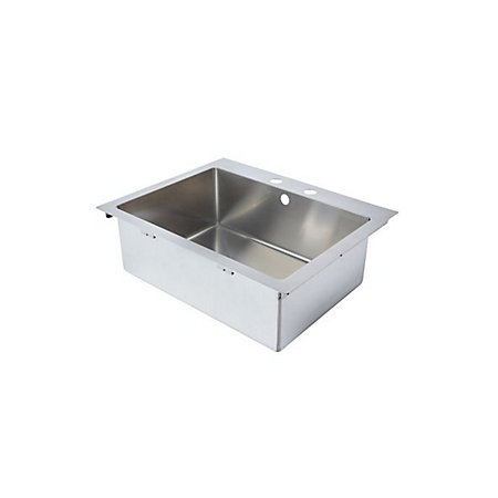 ... Amp?re 1 Bowl Brushed Stainless Steel Sink Departments DIY at B&Q