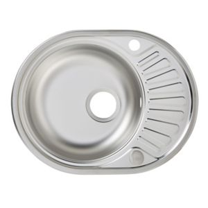 Liebig 1 Bowl Stainless Steel Round Sink & Half Drainer
