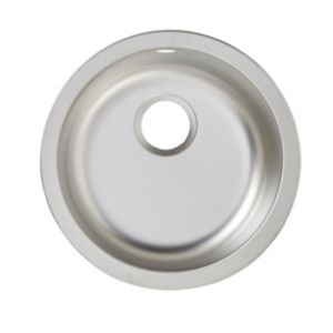 Image of Cooke & Lewis Hurston 1 bowl Linen Finish Stainless steel Round sink