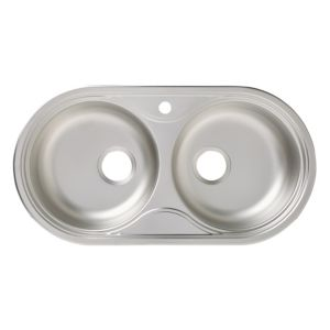 Image of Nye 2 bowl Linen Finish Stainless steel Sink