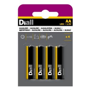 Image of Diall AA Alkaline Battery Pack of 4
