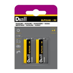 Image of Diall PP3 Alkaline Battery Pack of 4