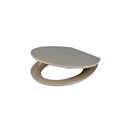 cooke lewis changi taupe soft close toilet seat. Black Bedroom Furniture Sets. Home Design Ideas