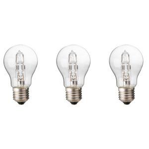Diall Edison Screw Cap (E27) 30W Halogen Classic Light Bulb  Pack of 3