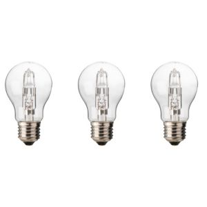 Diall Edison Screw Cap (E27) 46W Halogen Classic Light Bulb  Pack of 3