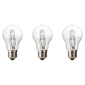 Diall Edison Screw Cap (E27) 57W Halogen Classic Light Bulb  Pack of 3