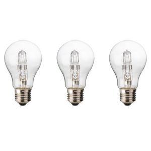 Diall Edison Screw Cap (E27) 120W Halogen Classic Light Bulb  Pack of 3