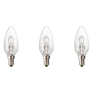Diall Small Edison Screw Cap (E14) 19W Halogen Candle Light Bulb  Pack of 3