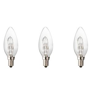 Diall Small Edison Screw Cap (E14) 30W Halogen Candle Light Bulb  Pack of 3