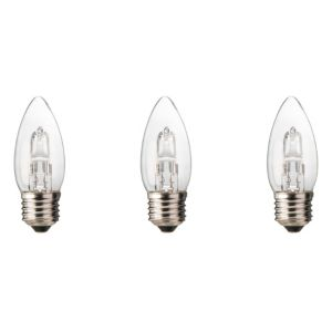 Diall Edison Screw Cap (E27) 19W Halogen Candle Light Bulb  Pack of 3