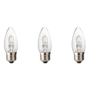 Diall Edison Screw Cap (E27) 30W Halogen Candle Light Bulb  Pack of 3