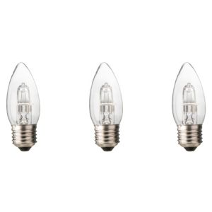 Diall Edison Screw Cap (E27) 46W Halogen Candle Light Bulb  Pack of 3