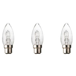 Diall Bayonet Cap (B22) 19W Halogen Candle Light Bulb  Pack of 3