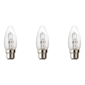 Diall Bayonet Cap (B22) 30W Halogen Candle Light Bulb  Pack of 3