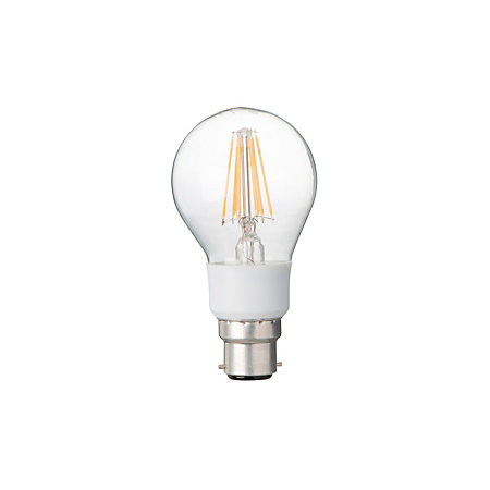 diall b22 7w led filament dimmable classic light bulb departments diy at b q. Black Bedroom Furniture Sets. Home Design Ideas