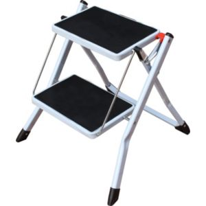 Image of 2 tread Powder coated steel & plastic parts Step stool 0.44m