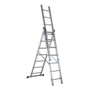 Mac Allister Triple Extension 7 Tread 3 In 1 Ladder