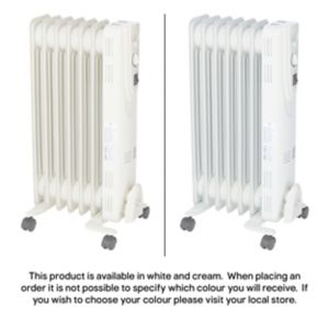 Image of Electric 1500W Beige Oil filled radiator